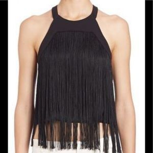 Parker retreat fringed midriff top. Size medium